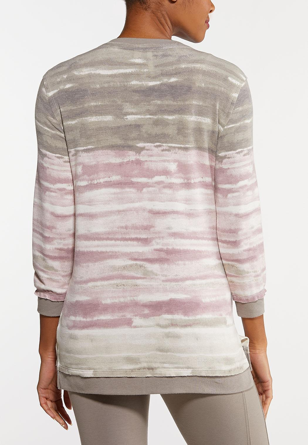 Plus Size Lilac Tie Dye Tunic (Item #44098402)