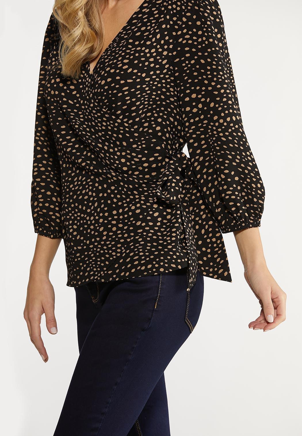 Speckled Wrap Top (Item #44098710)