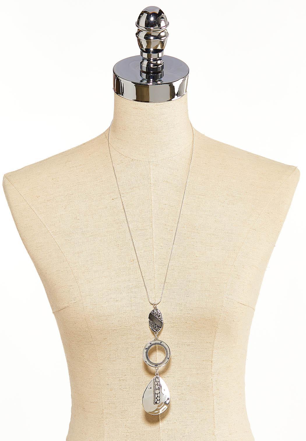 Antique Silver Pendant Necklace (Item #44099370)