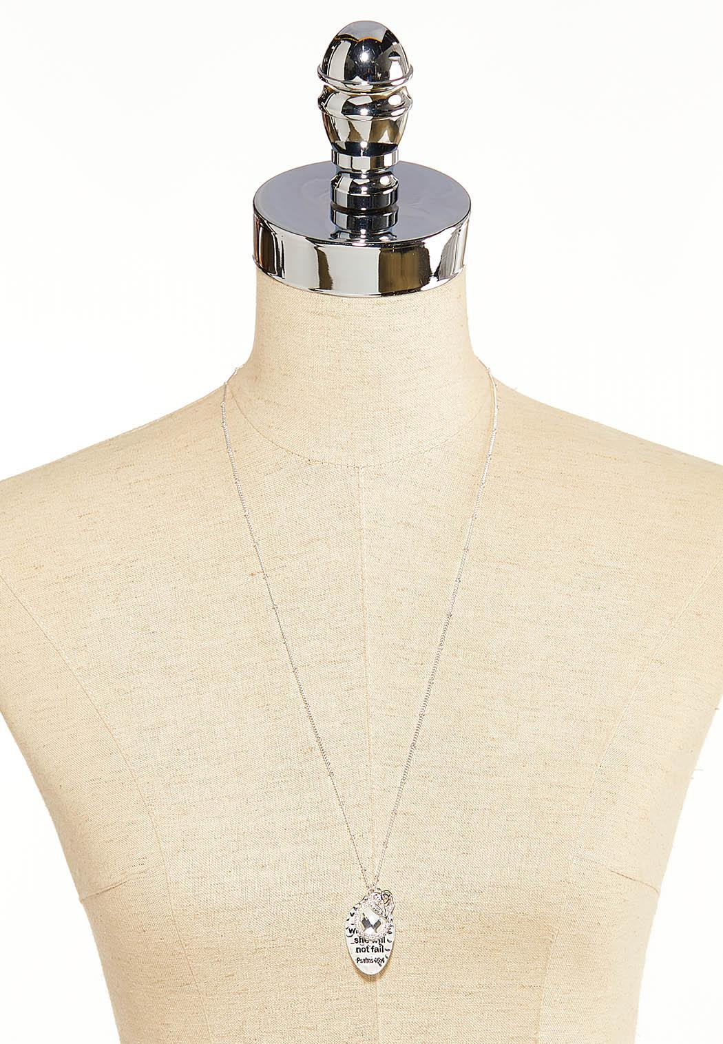 Silver Inspirational Charm  Necklace  (Item #44099375)