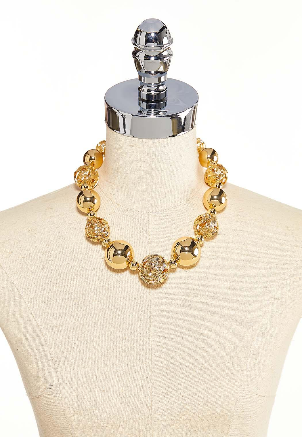 Mixed Gold Ball Necklace (Item #44099488)