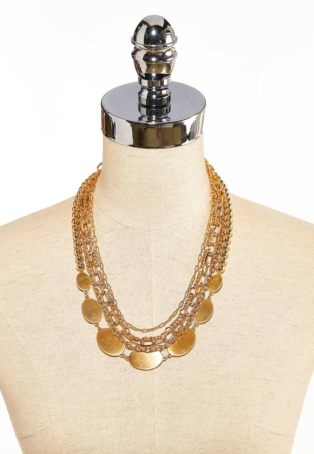 Brushed Mix Chain Necklace (Item #44099490)