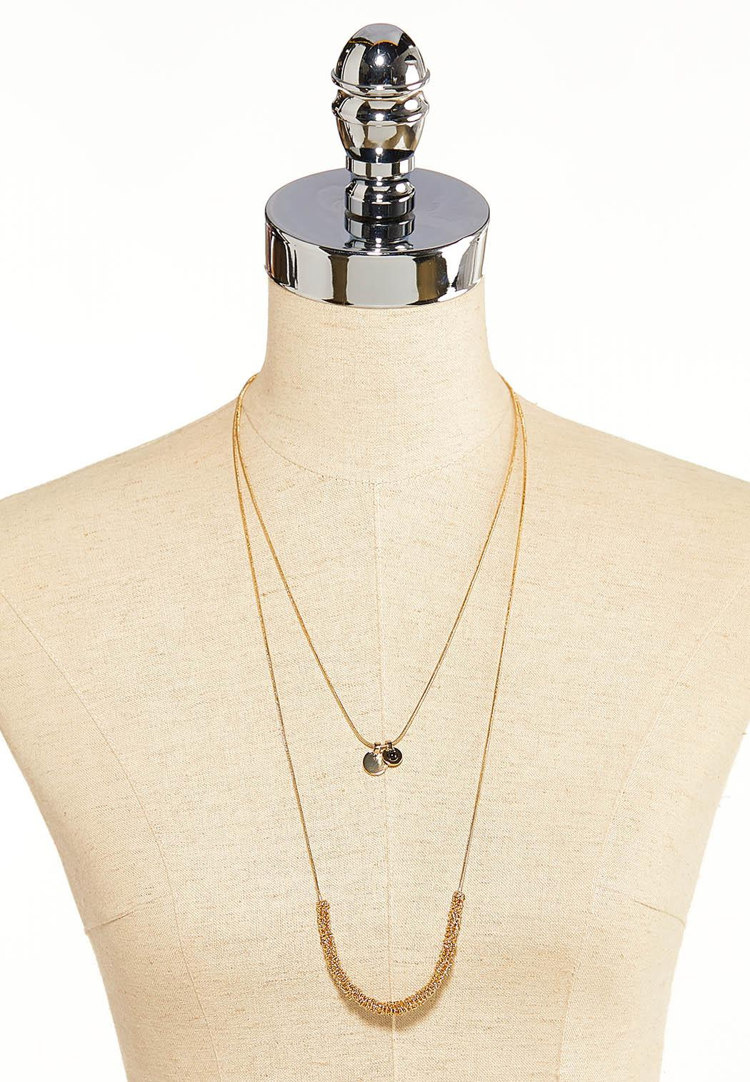 Layered Gold Wrapped Necklace (Item #44099526)