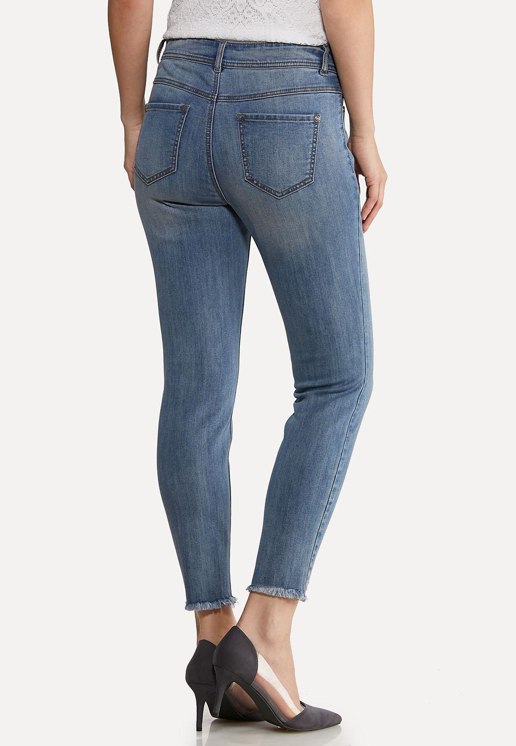 Distressed Ankle Skinny Jeans (Item #44100605)