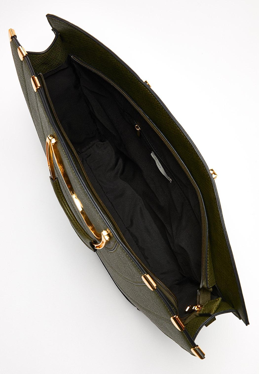 Metal Handle Oversized Satchel (Item #44100905)