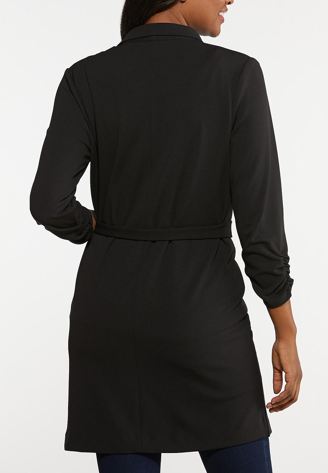 Plus Size Tie Waist Blazer (Item #44101651)