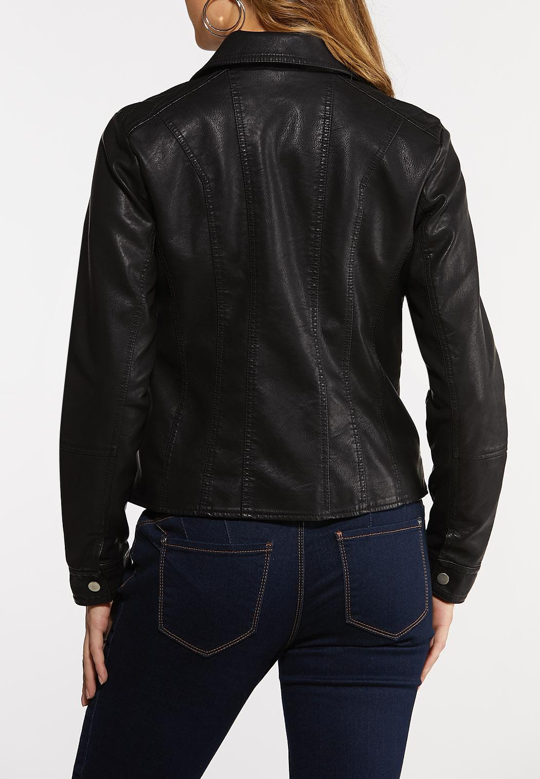 Plus Size Classic Moto Jacket (Item #44101873)