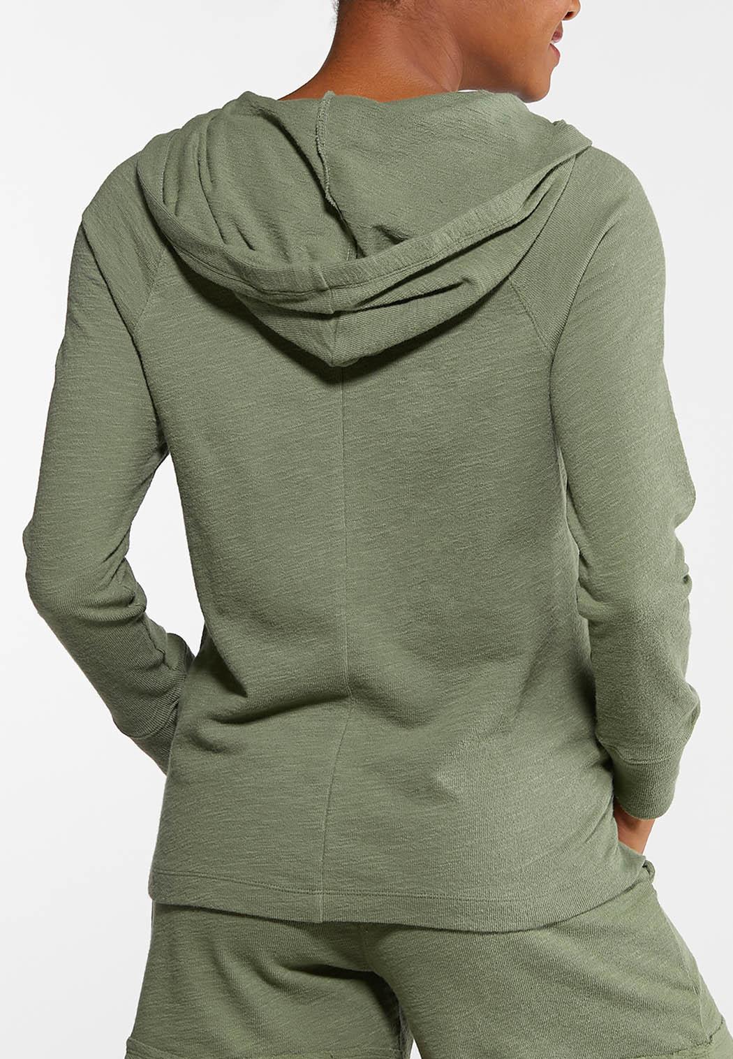 Plus Size Knit Active Hoodie (Item #44102642)