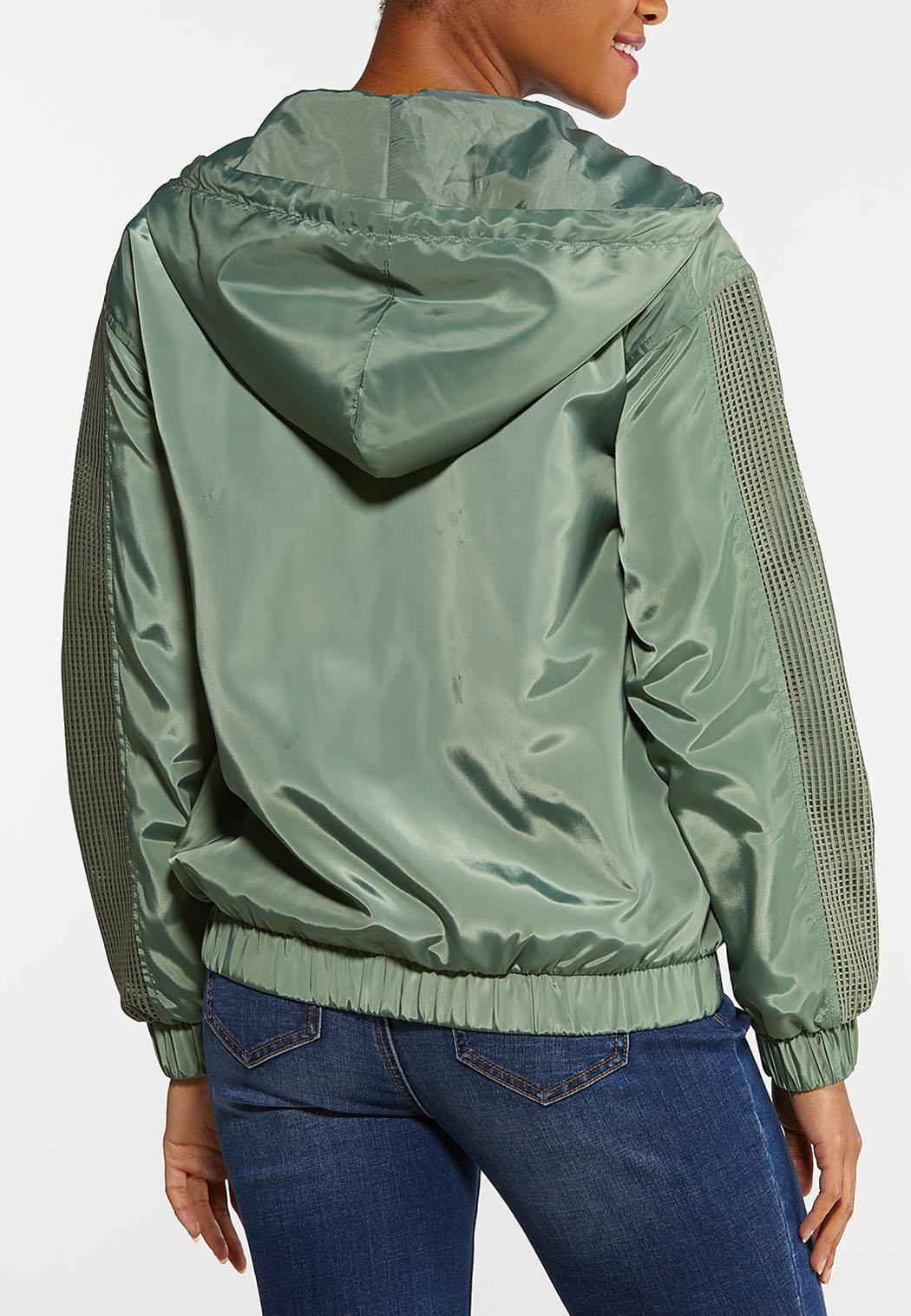 Plus Size Half Zip Mesh Jacket (Item #44102685)