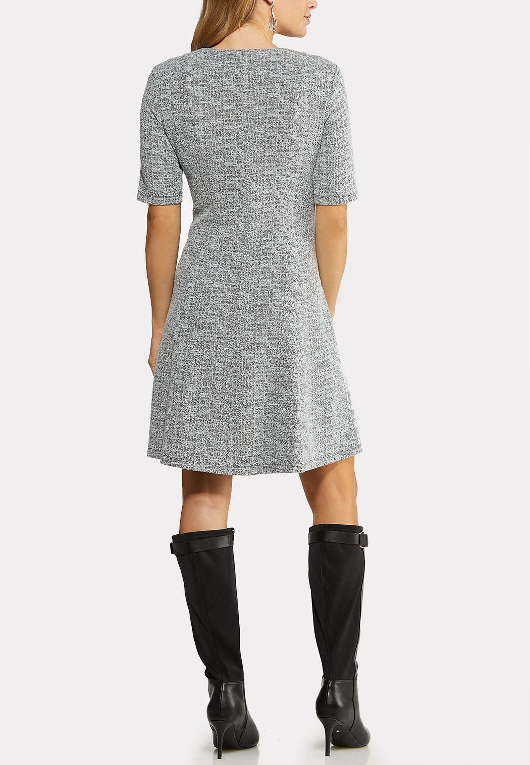 Zip Front Fit Flare Dress (Item #44102725)