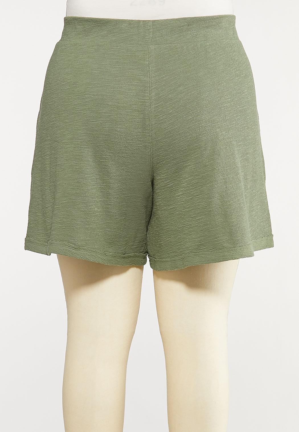Plus Size Knit Active Shorts (Item #44102726)