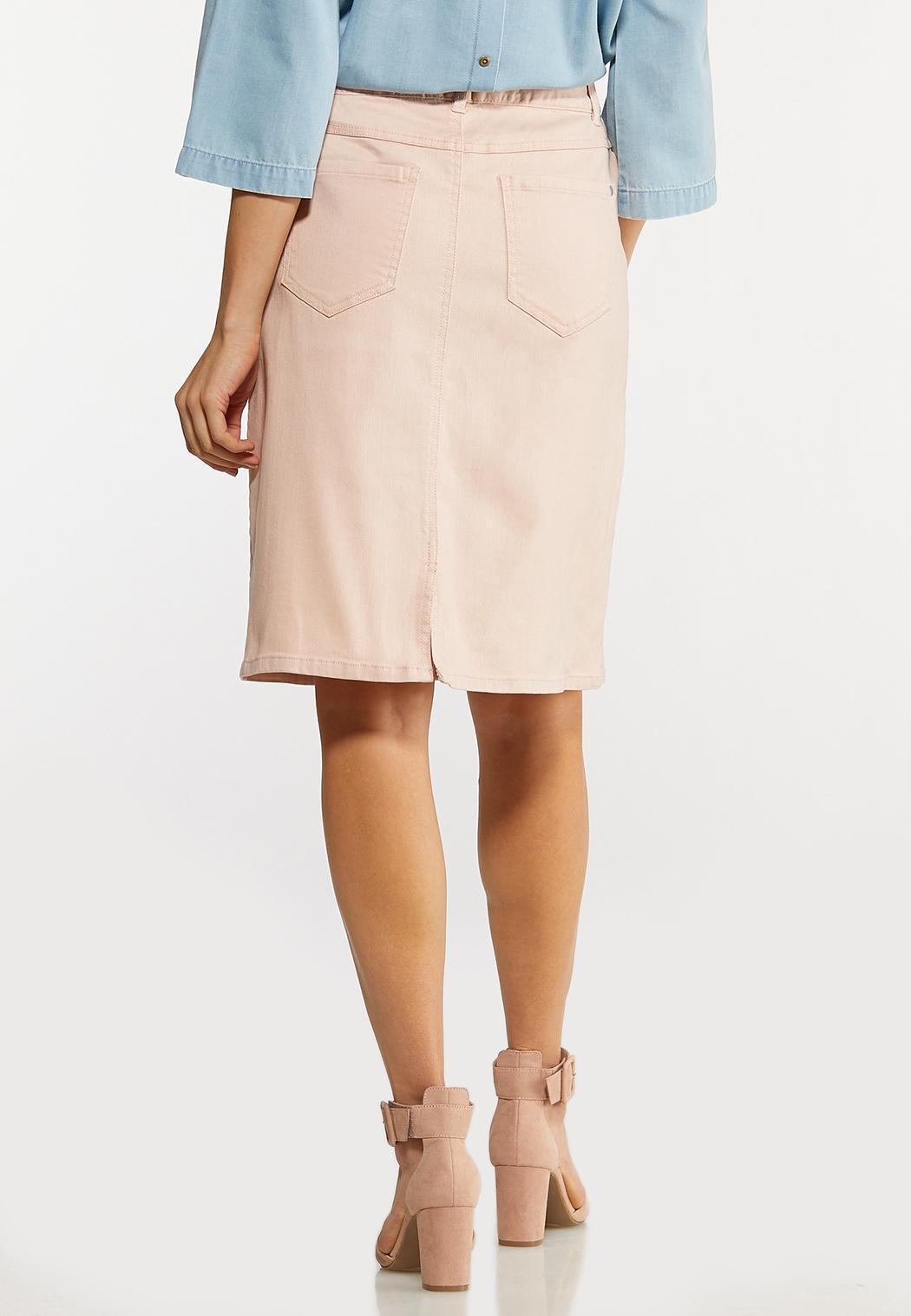 Color Denim Pencil Skirt (Item #44102886)