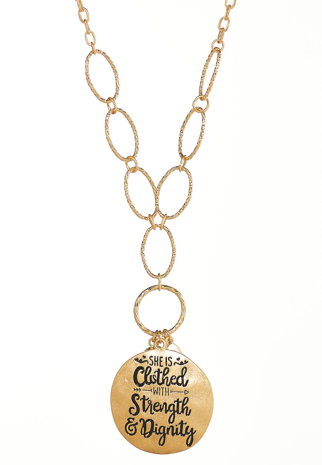 Inspirational Disc Link Necklace (Item #44103227)