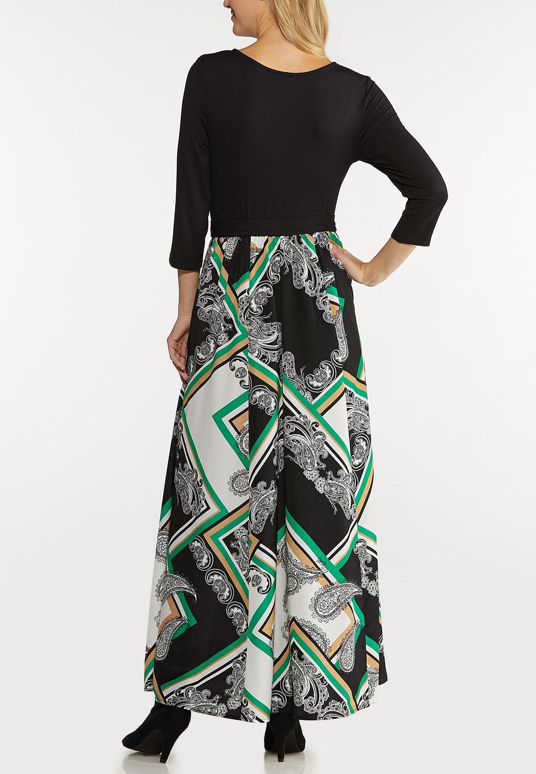 Plus Size Silky Scarf Maxi Dress (Item #44103852)