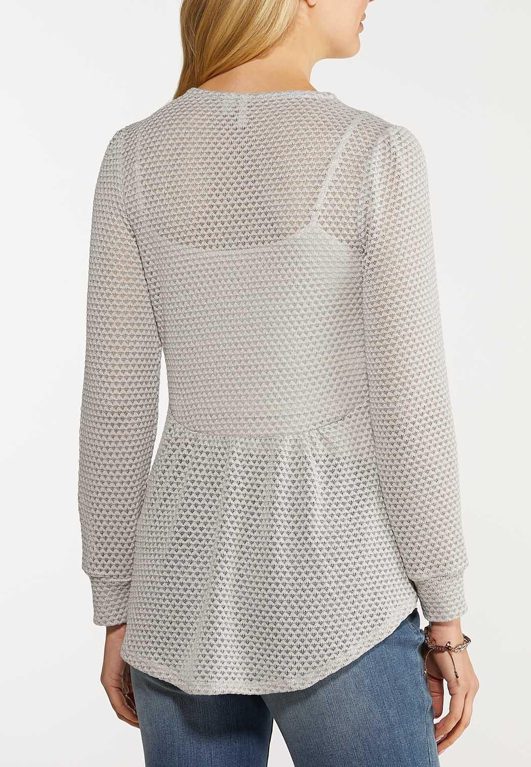 Crochet Waffle Top (Item #44104222)