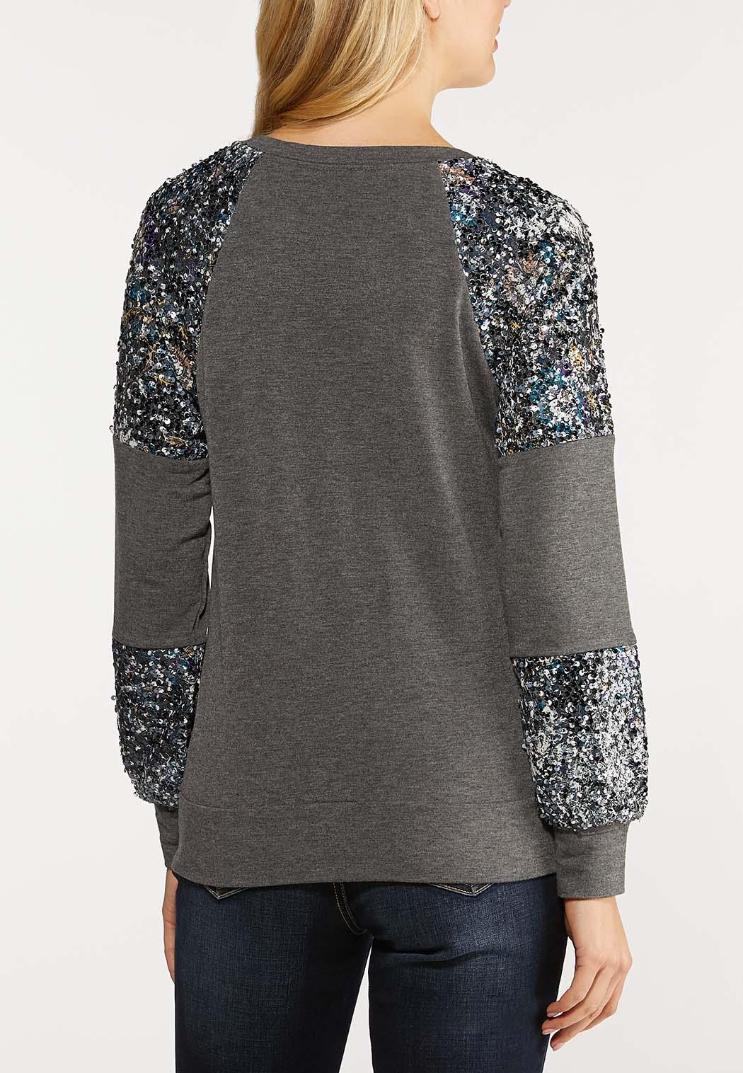Sequin Sleeve Sweatshirt (Item #44104267)