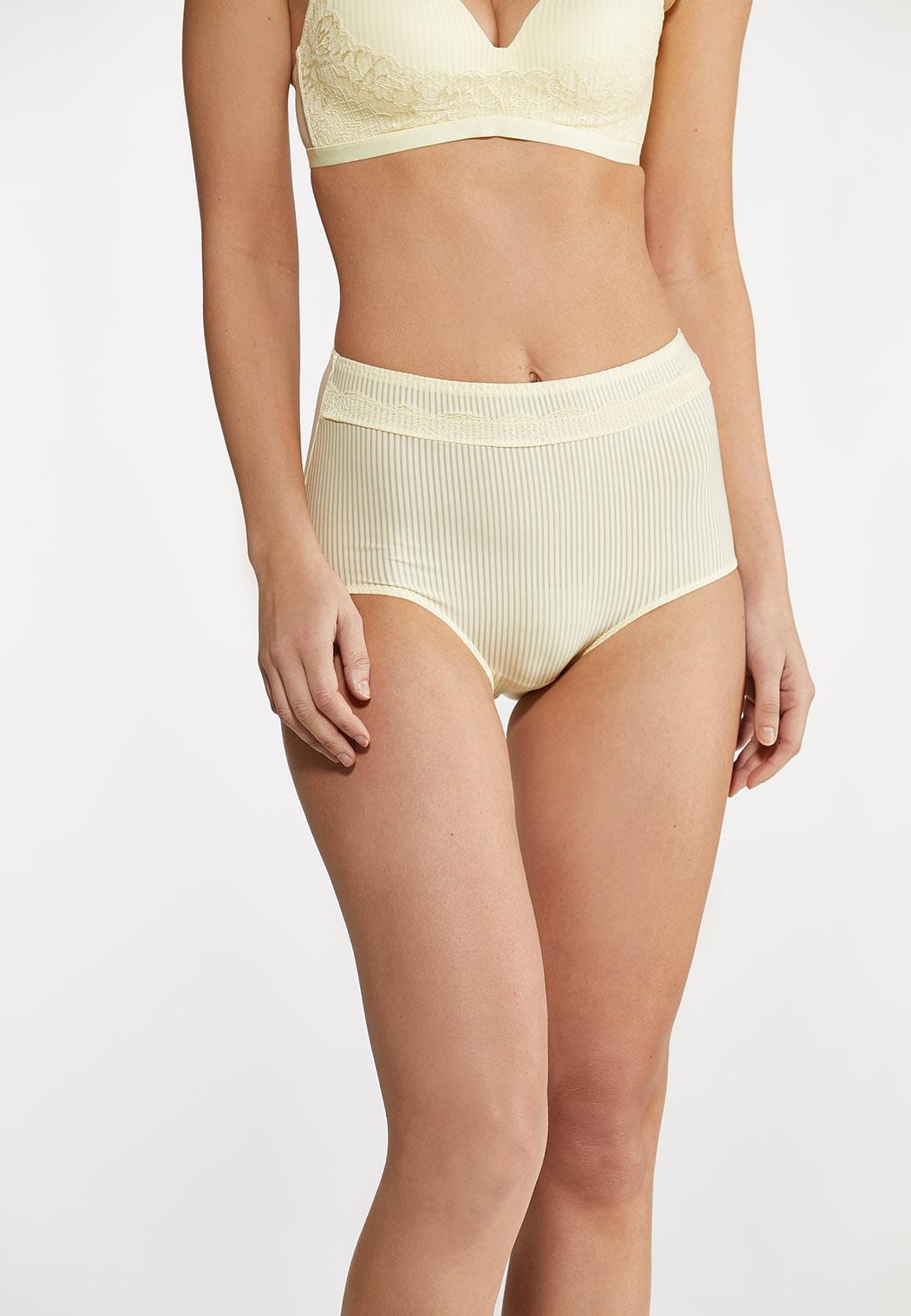 Plus Size Hello Yellow High Waist Panty Set (Item #44104323)