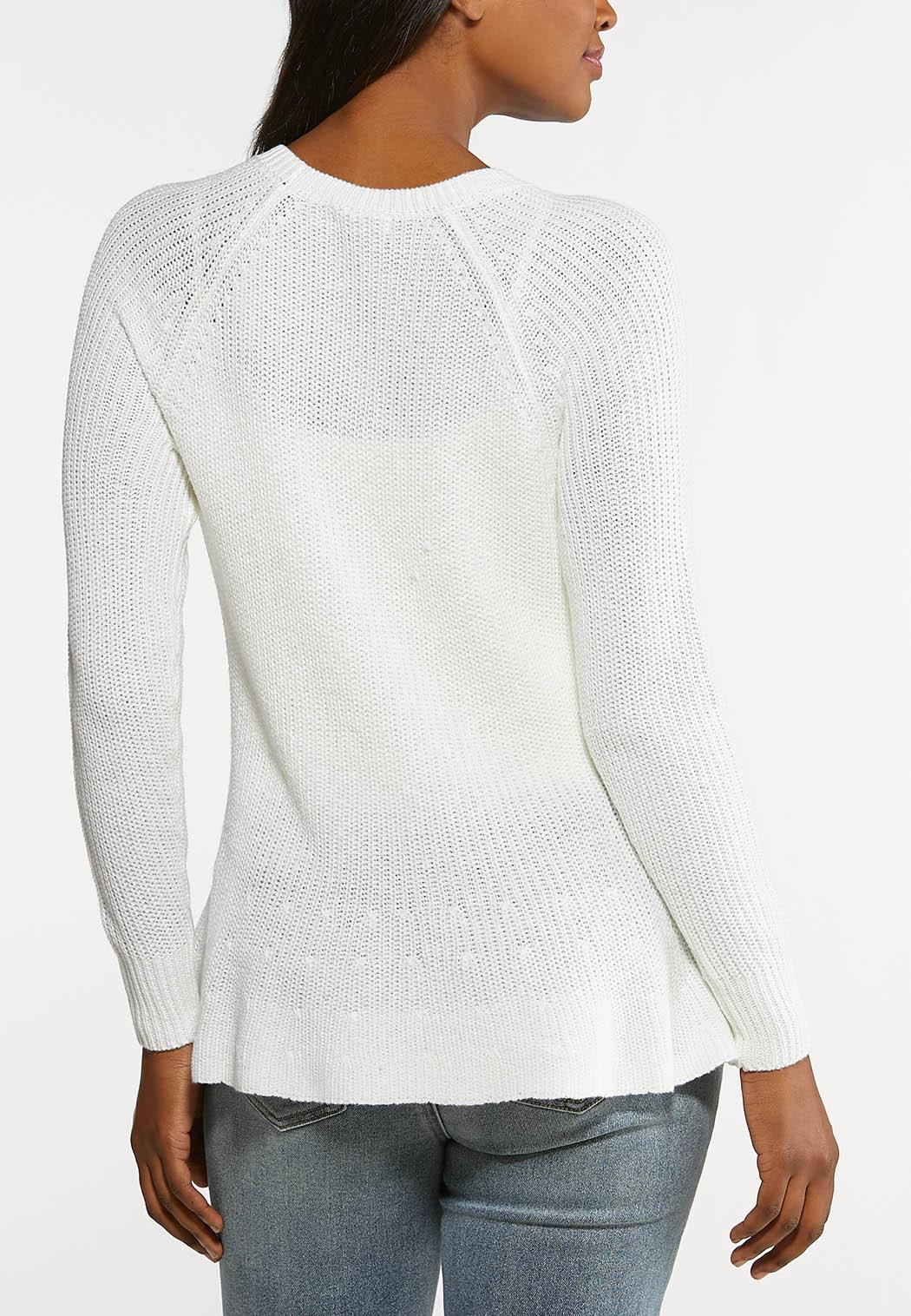 Plus Size Pullover Peplum Sweater (Item #44104467)