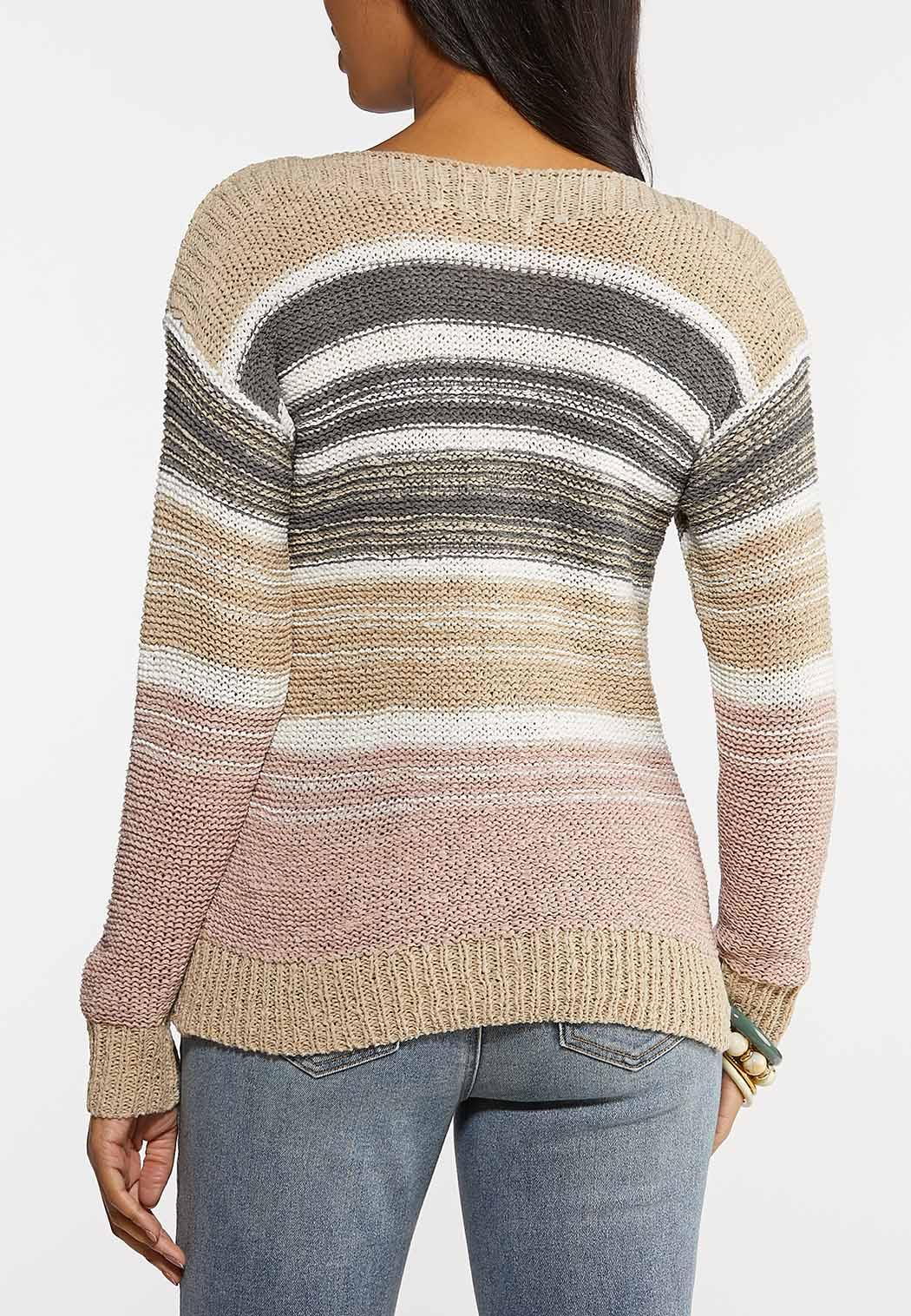 Yarn Knit Striped Sweater (Item #44104485)