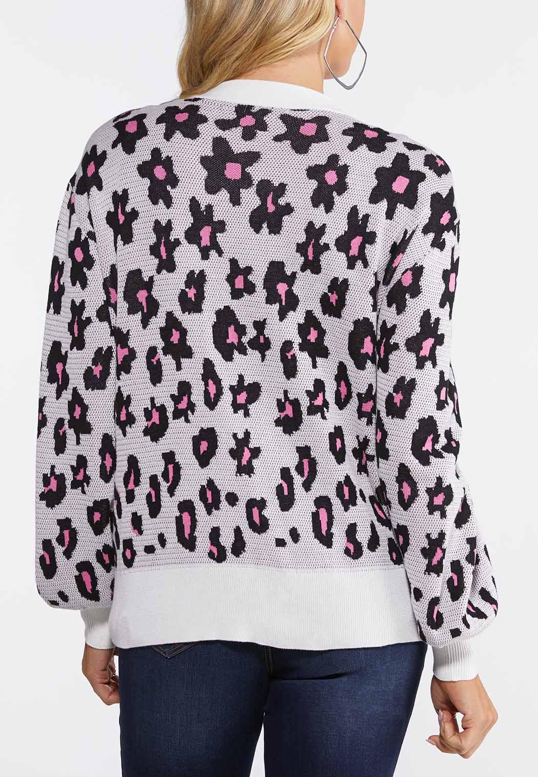 Blossom Leopard Cardigan  (Item #44104602)