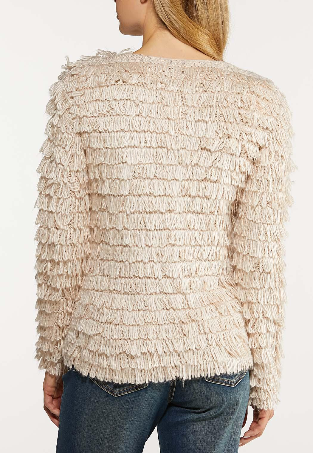 Plus Size Shaggy Skimmer Cardigan (Item #44104673)