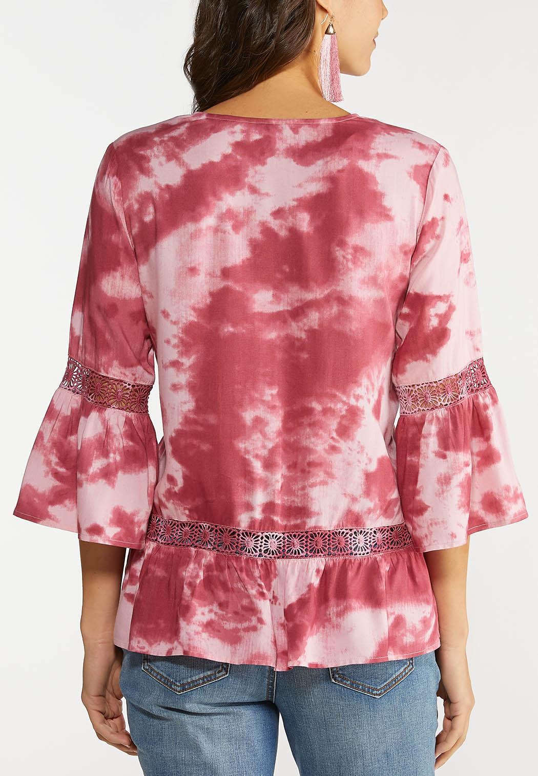 Plus Size Raspberry Tie Dye Top (Item #44104821)