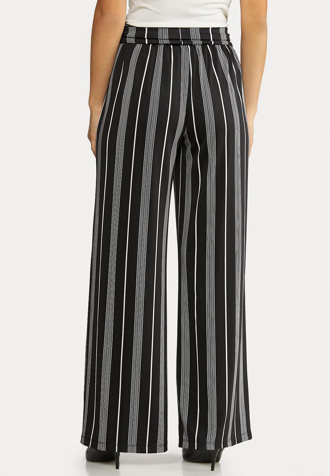 Petite Striped Tie Belted Pants (Item #44104901)