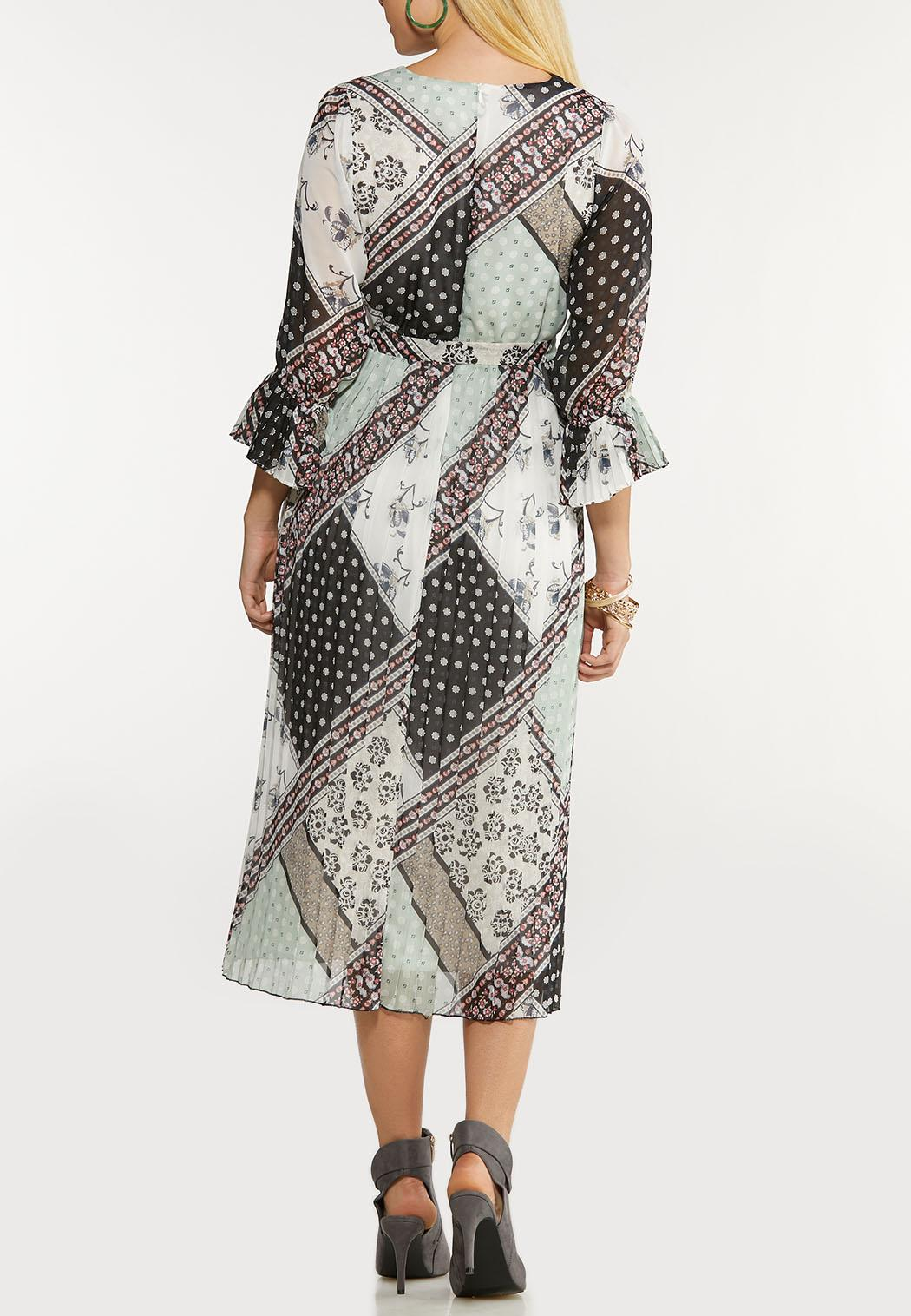 Plus Size Dreamy Patchwork Midi Dress (Item #44105132)