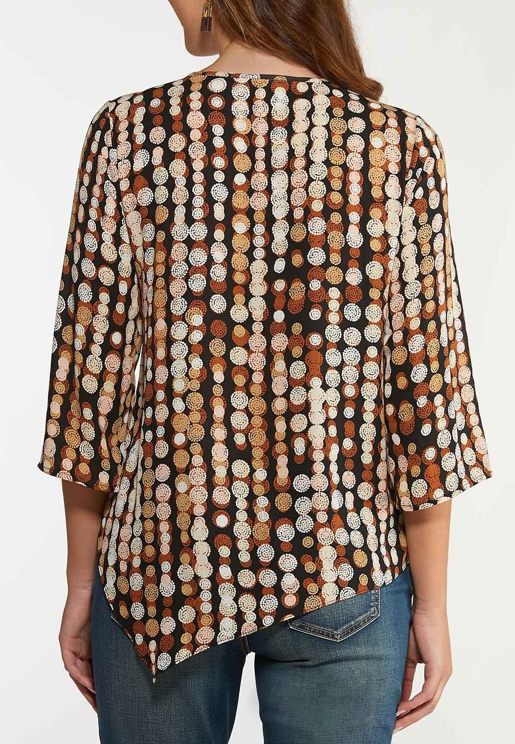 Asymmetrical Swirl Dot Top (Item #44105251)