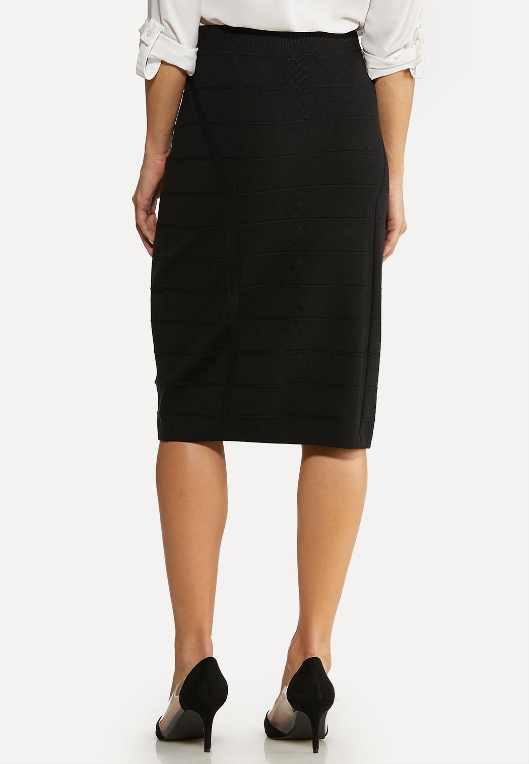 Black Knit Pencil Skirt (Item #44105590)