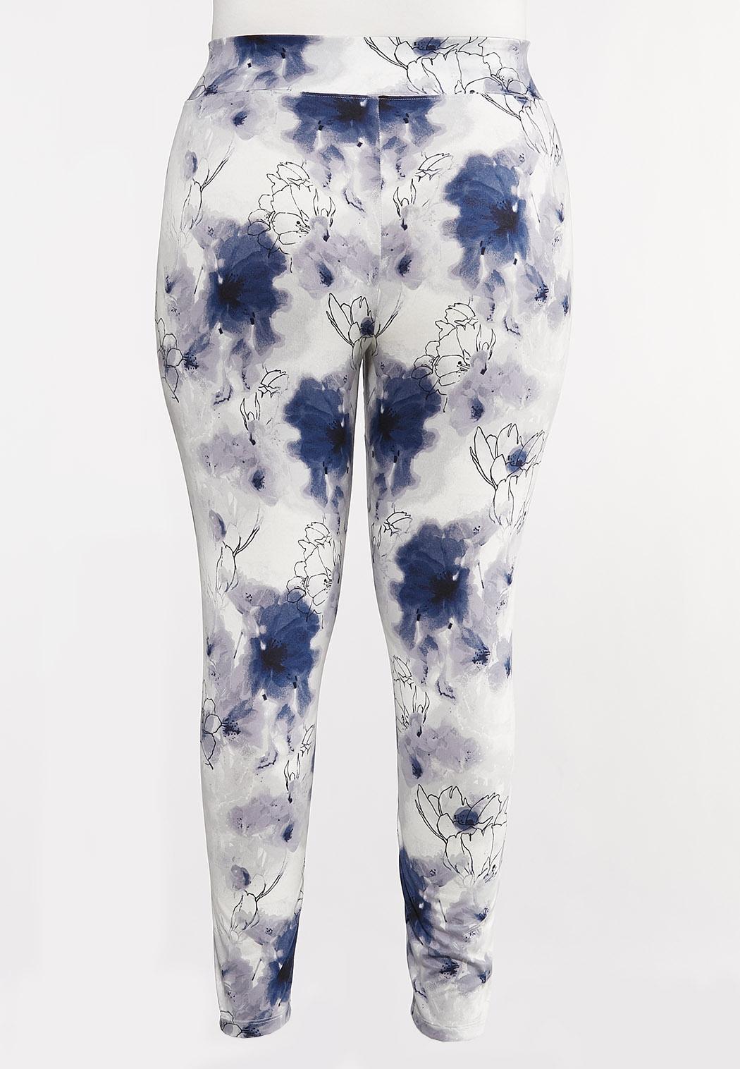 Plus Size Cherry Blossom Leggings (Item #44106004)