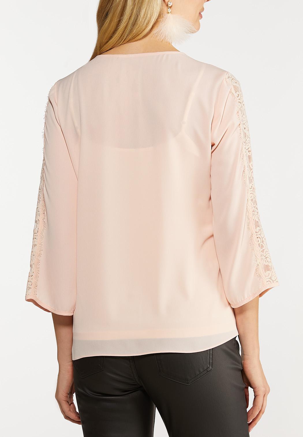 Delicate Lace Trim Top (Item #44106088)
