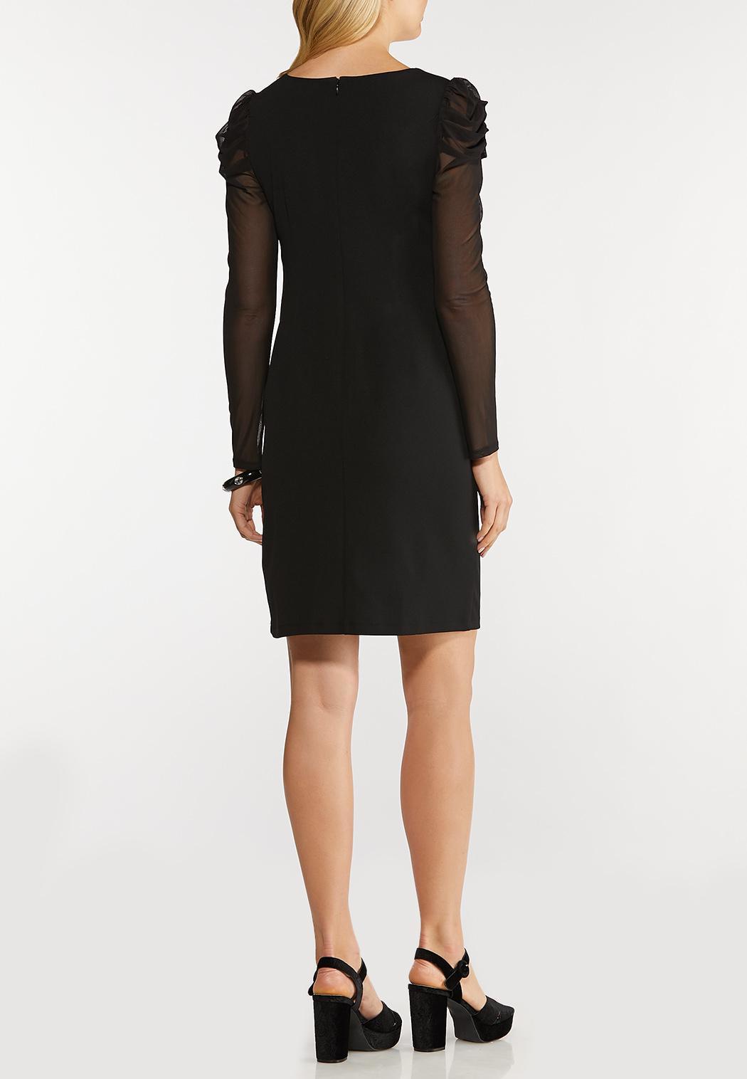 Mesh Sleeve Mini Dress (Item #44106274)