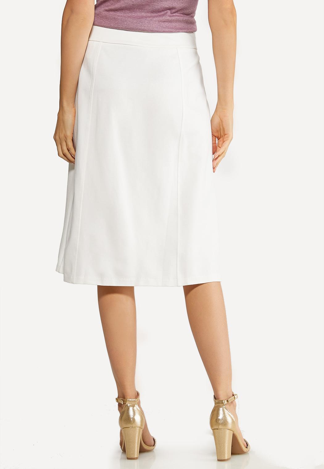 Plus Size Ponte A-Line Skirt (Item #44106302)