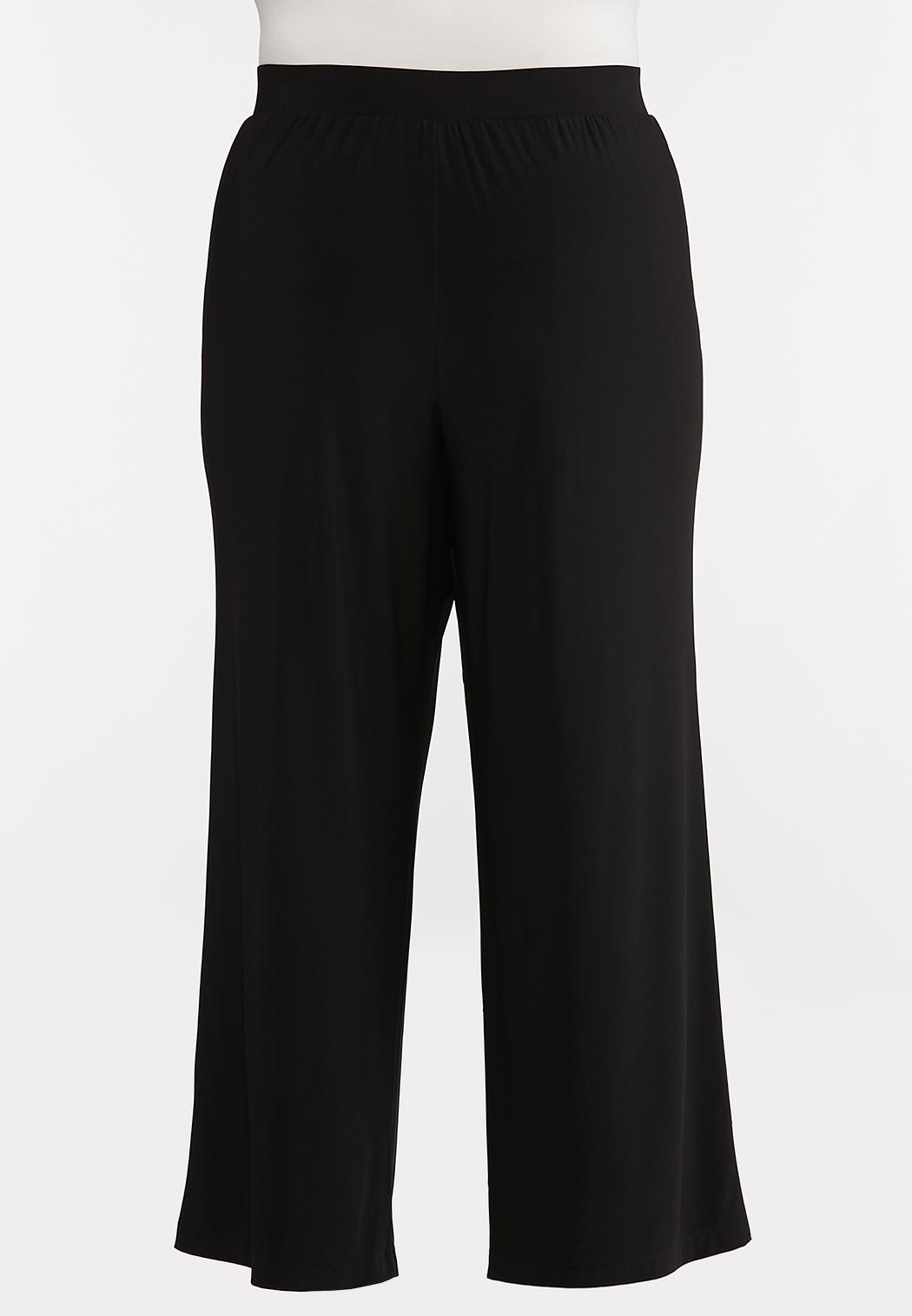 Plus Size Tie Front Palazzo Pants (Item #44106377)