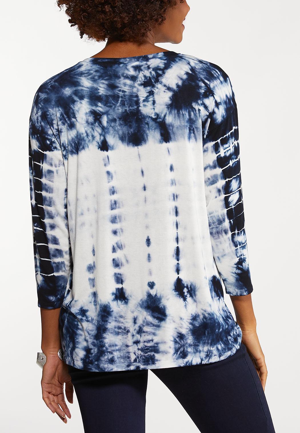 Plus Size Tie Dye Cinched Top (Item #44106634)
