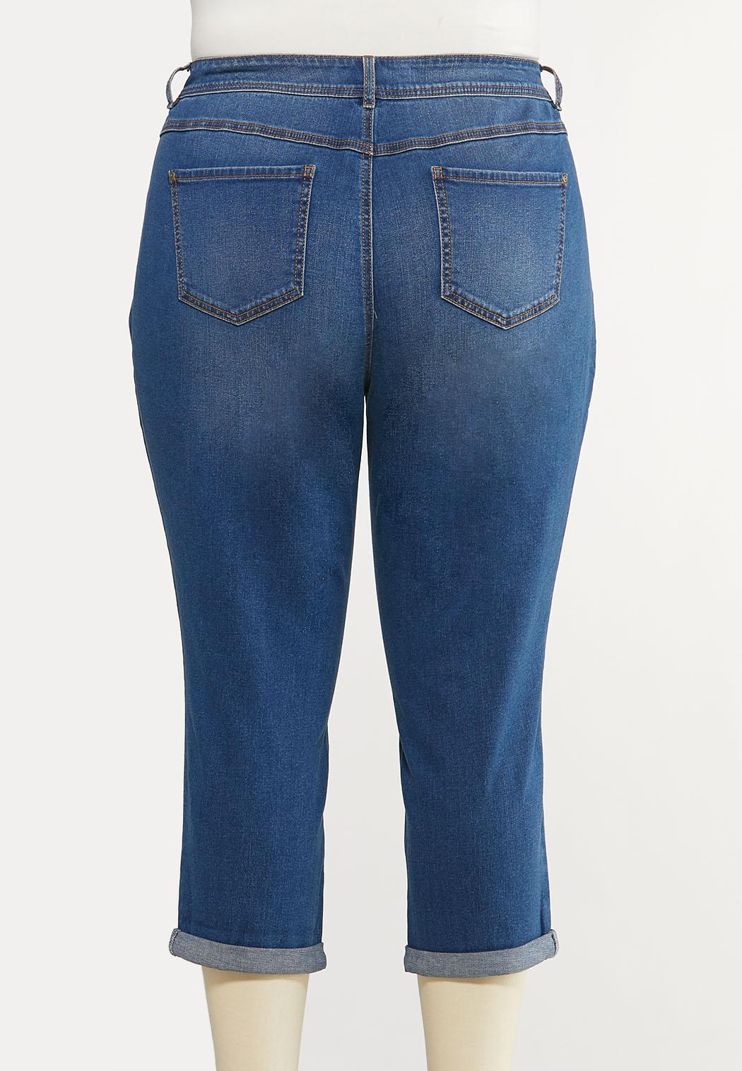 Plus Size Cropped Skinny Jeans (Item #44106925)
