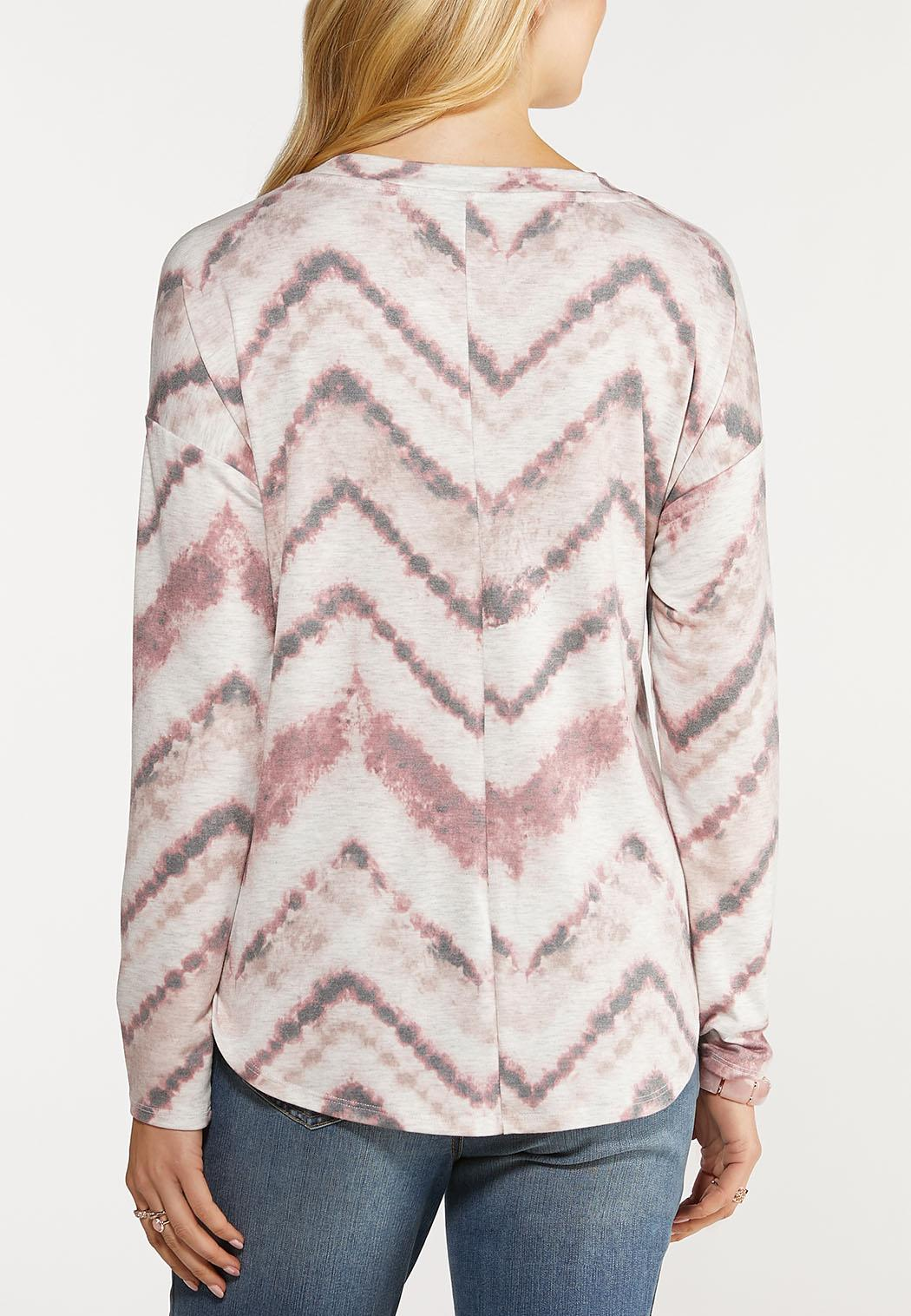 Chevron Dye Knotted Top (Item #44107137)