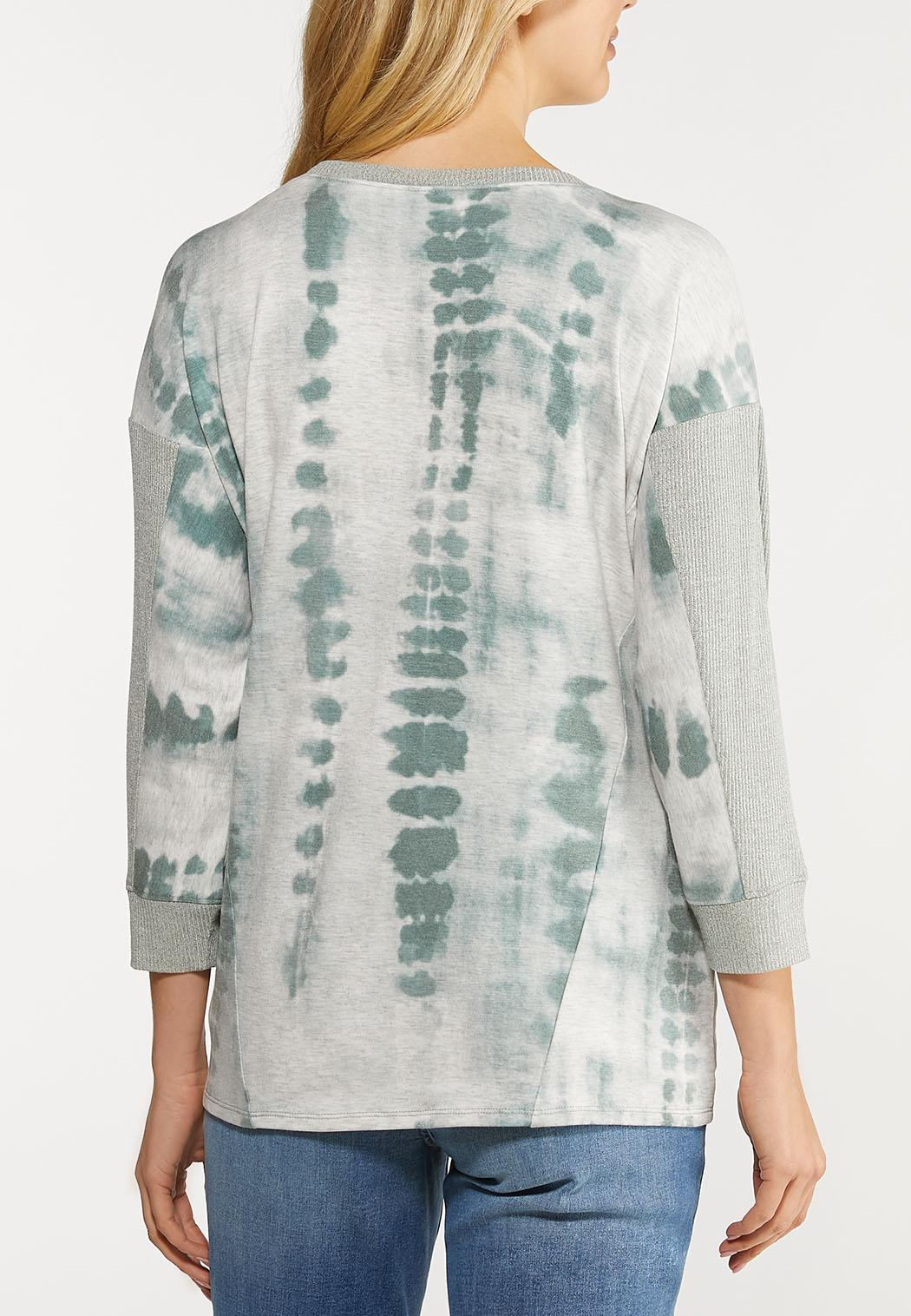 Green Tie Dye Knotted Top (Item #44107203)