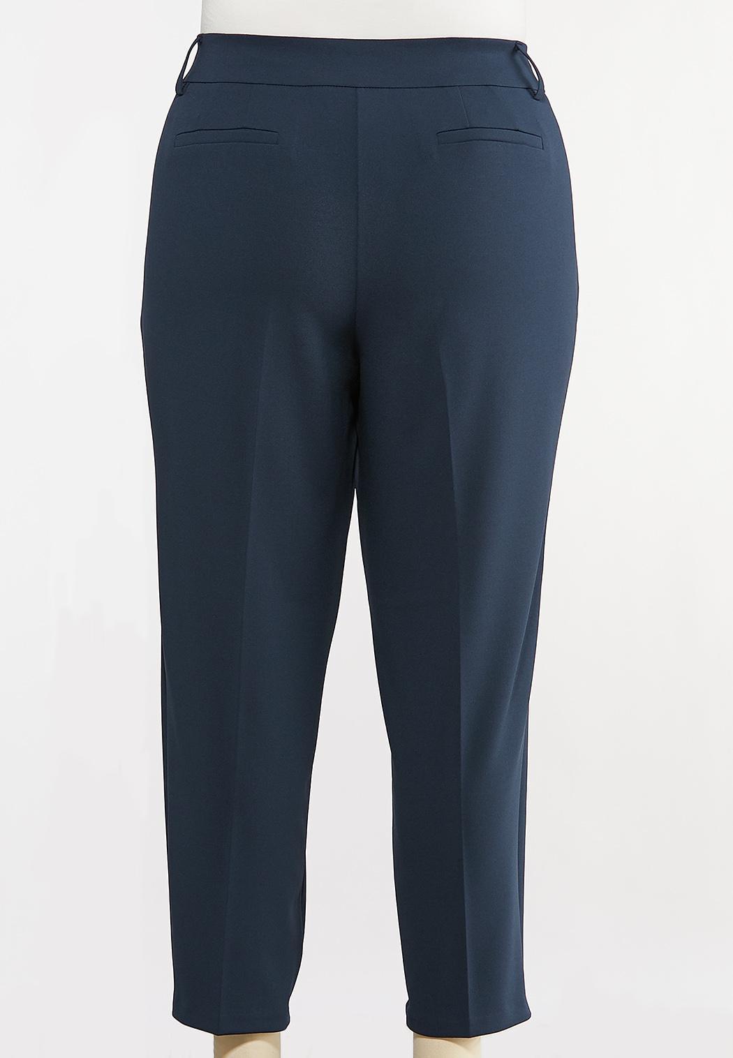 Plus Size Slim Button Loop Pants (Item #44107337)