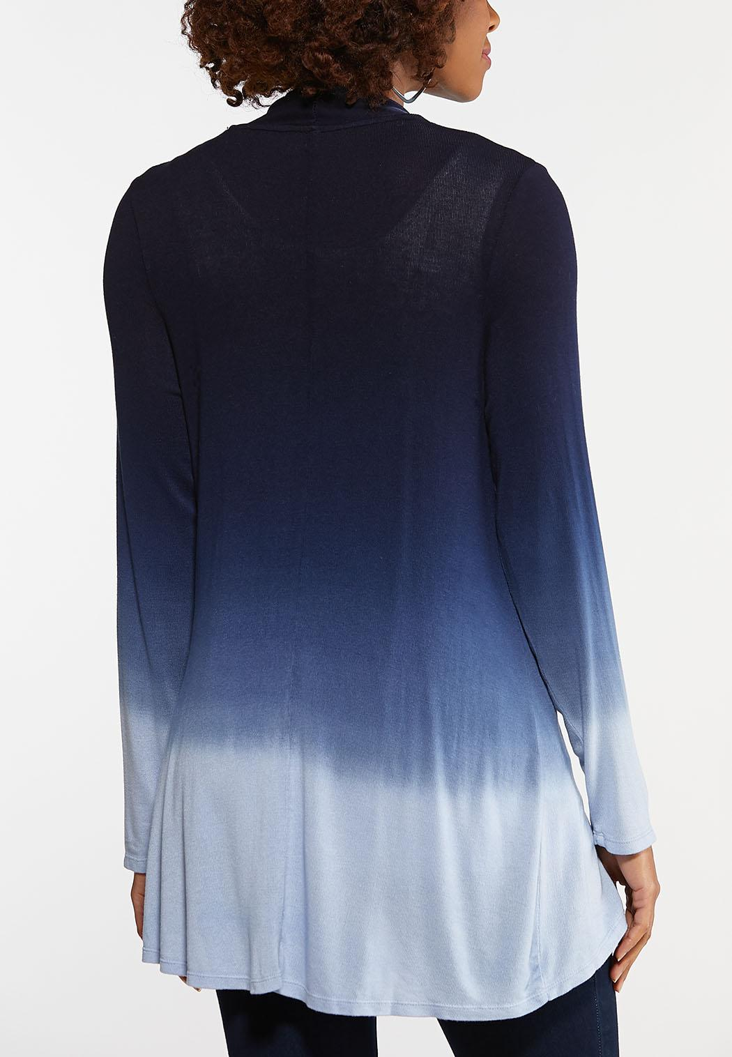 Plus Size Dip Dye Cardigan (Item #44107883)