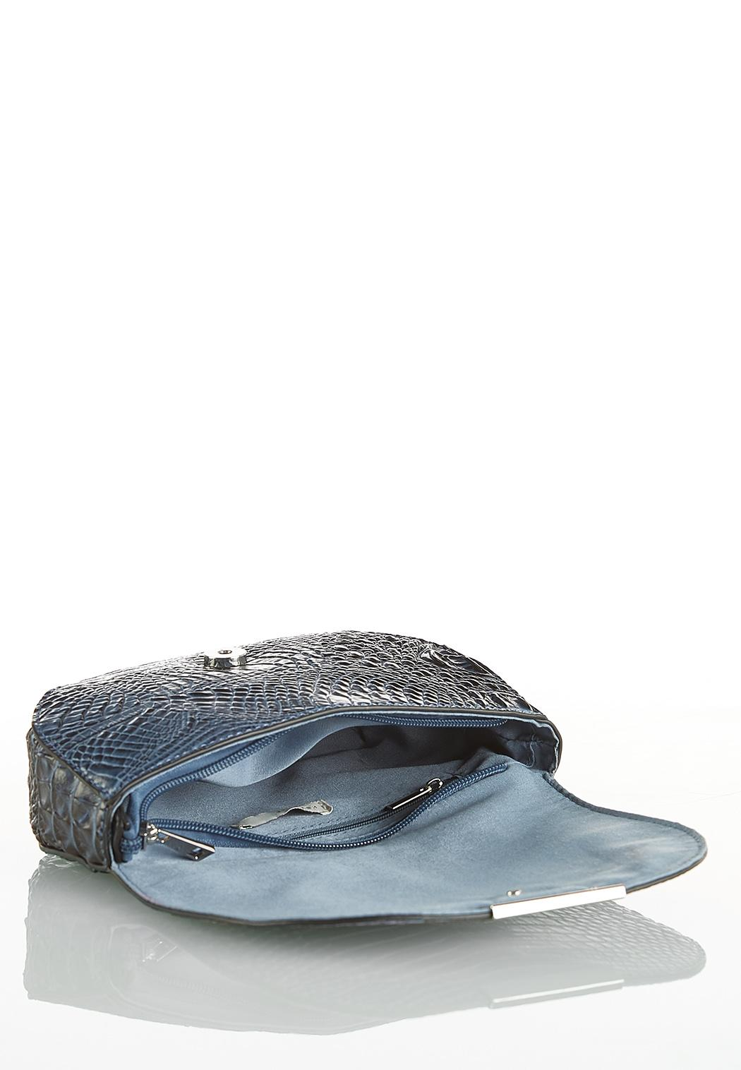 Blue Gray Croc Wristlet (Item #44108639)