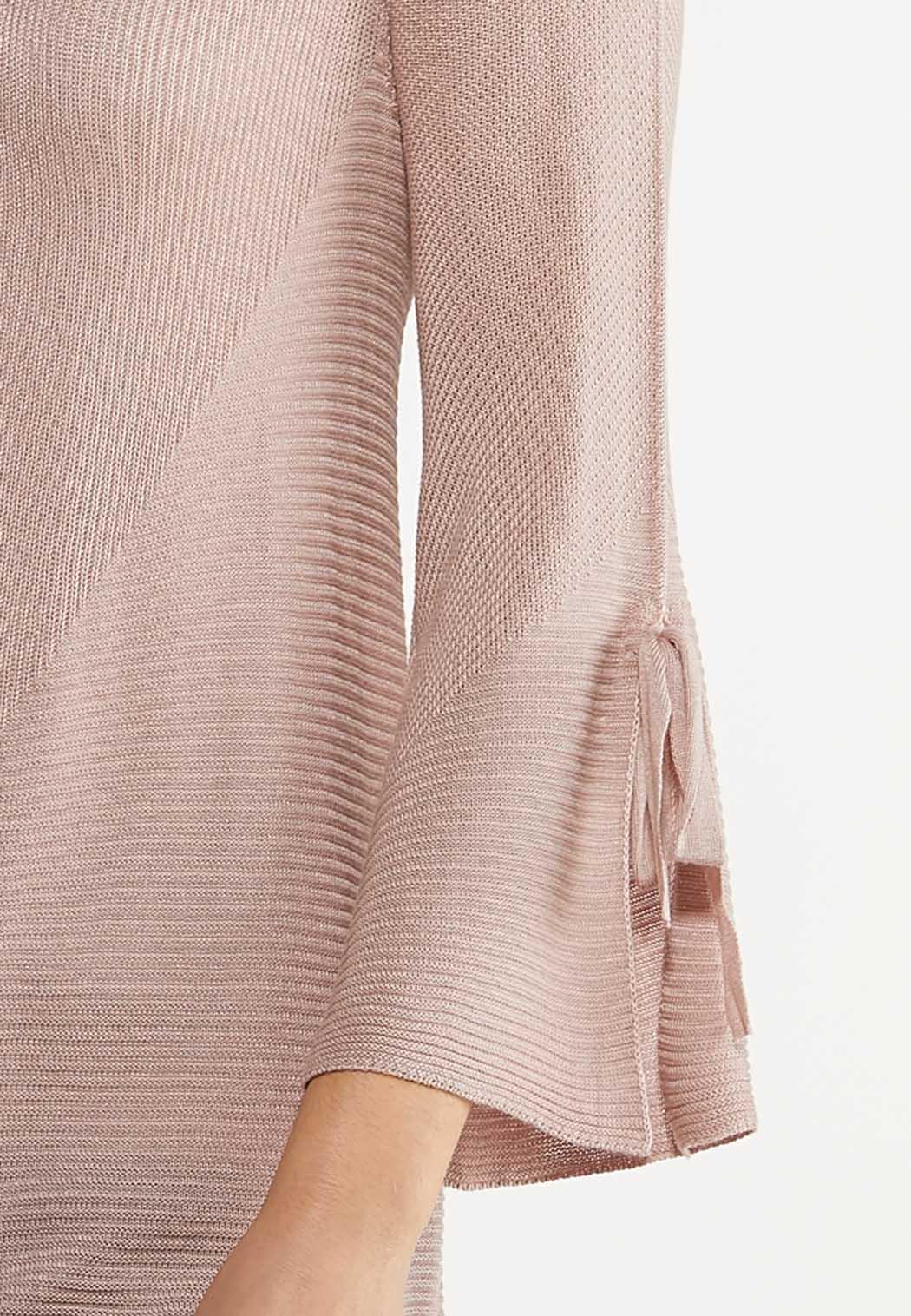 Plus Size Tie Sleeve Blush Cardigan (Item #44108949)