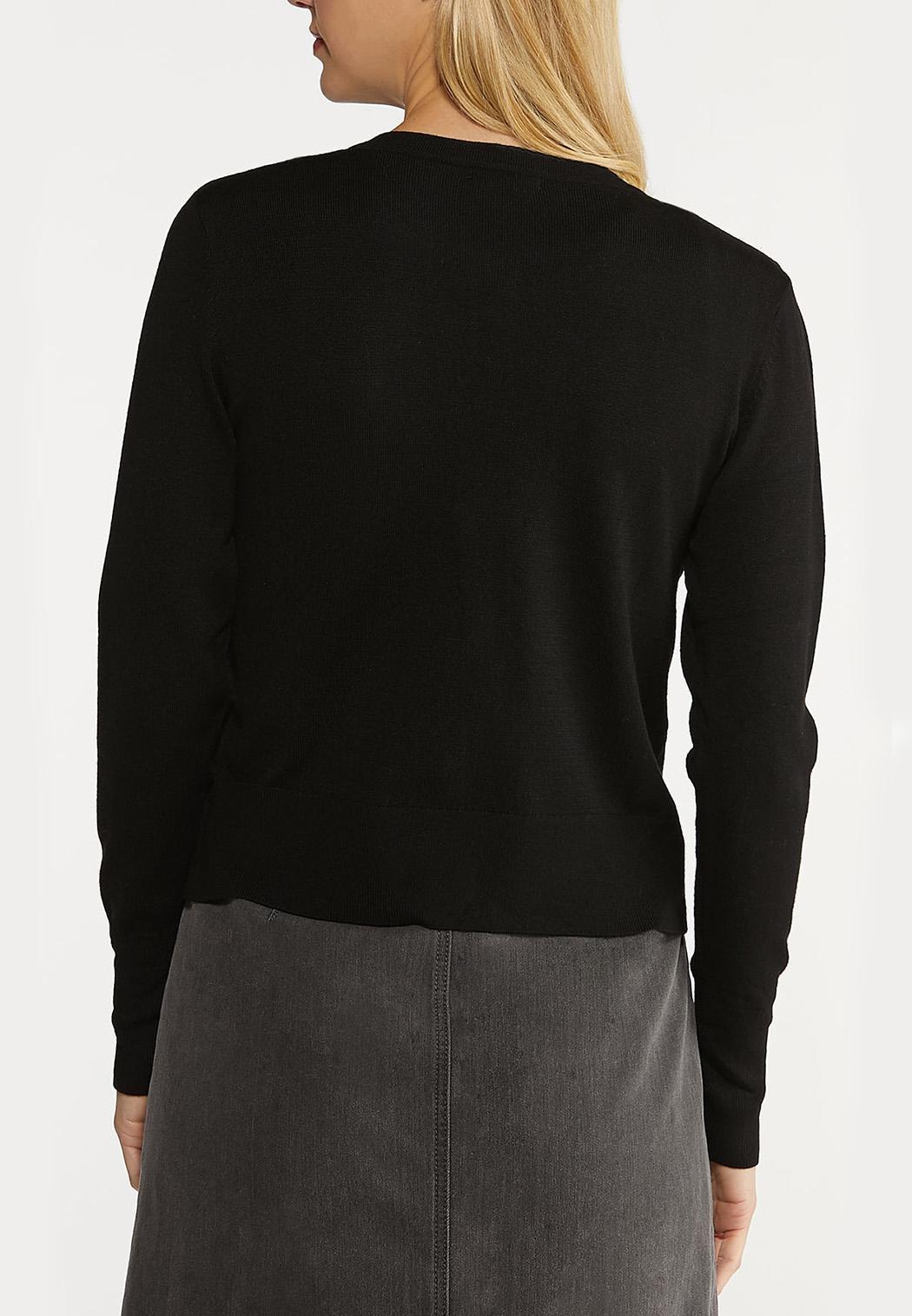 Essential Black Cardigan (Item #44109025)
