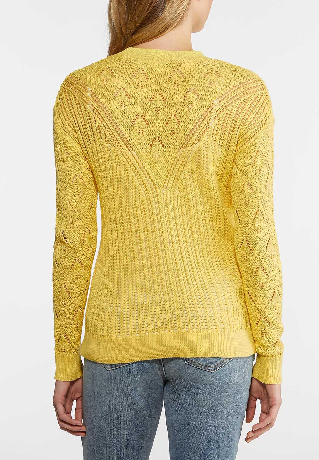 Plus Size Yellow Pullover Sweater (Item #44109107)