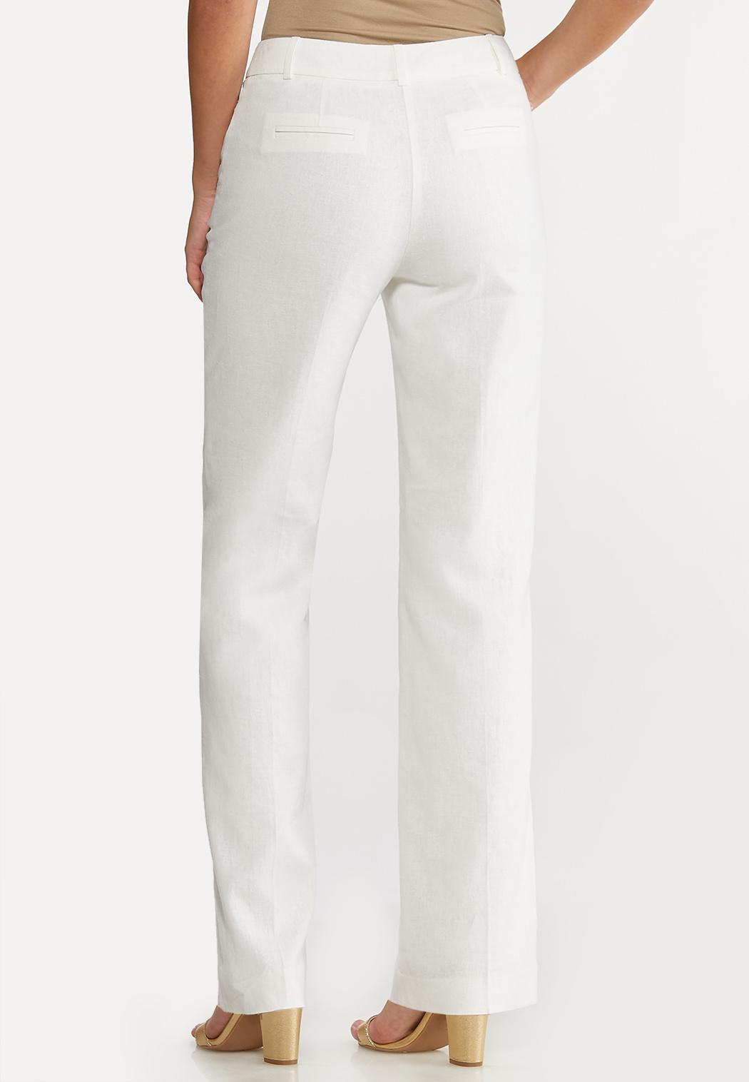 White Linen Trouser Pants (Item #44109897)