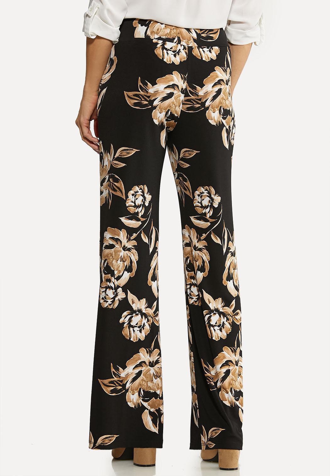Wide Leg Floral Pants (Item #44110290)