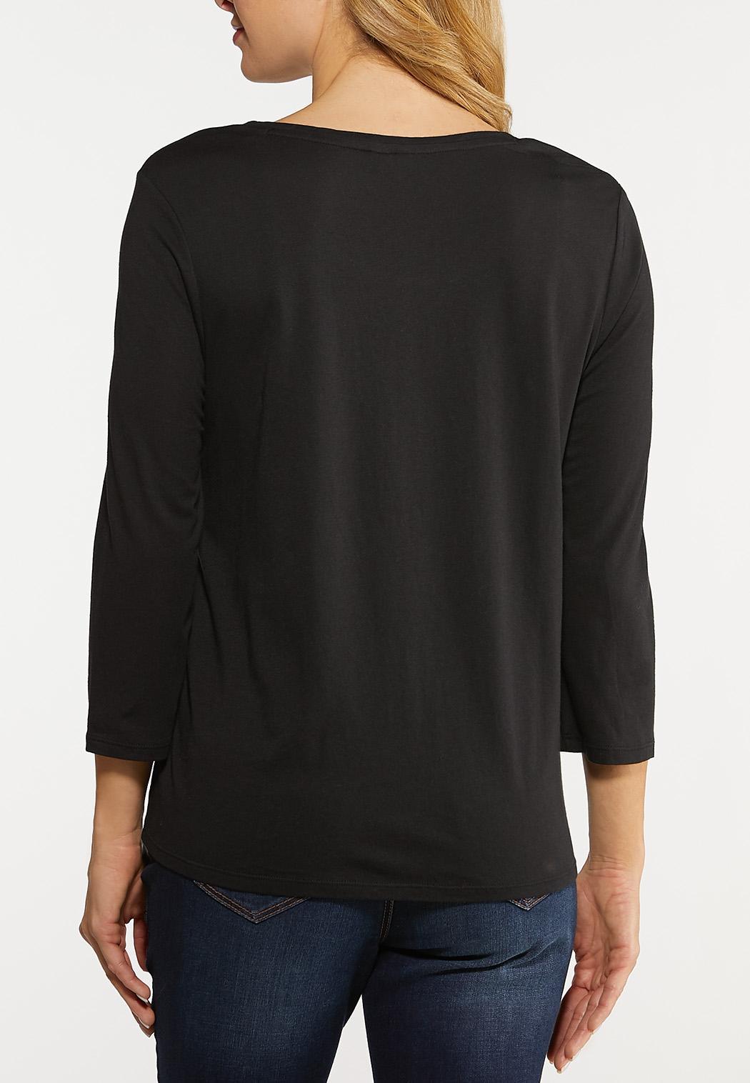Plus Size Twist Front Skimmer Top (Item #44112371)