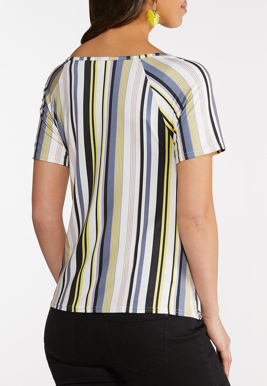 Plus Size Sweetheart Stripe Top (Item #44112513)