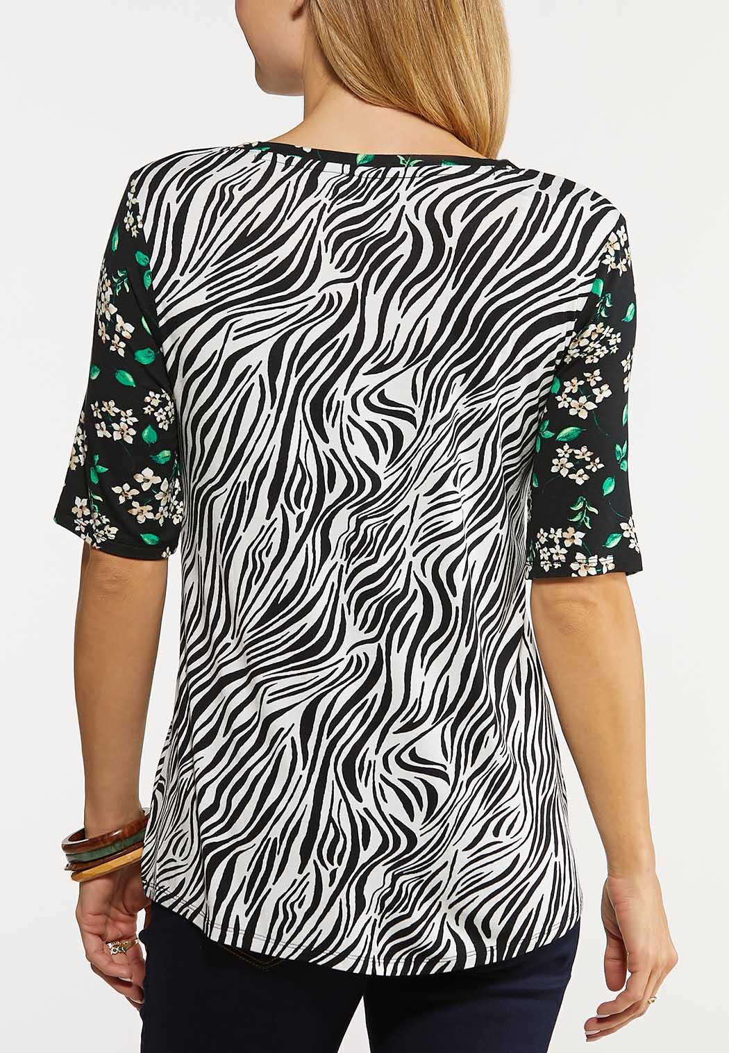 Floral Zebra Tee (Item #44112564)